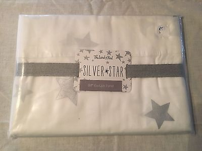Land Of Nod Curtain Panel Silver Stars