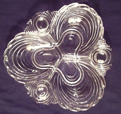 Cambridge Caprice 3 Part Divided Relish Dish #122 Clear