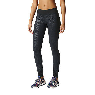 Adidas PR Womens Black Climalite Training Long Tights Sports Bottoms Pants