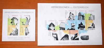 Austria 2015 Impressions Of Austria Definitives - Self Adhesive Stamp Sheet