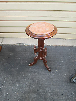 55752 Antique Victorian Marble Top Lamp Table Stand