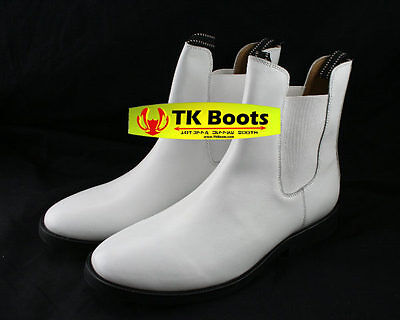 Stormtrooper White Armor Inspired Custom Leather Boots Size 9 C-width ON SALE!