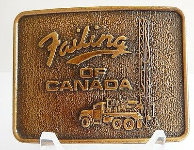 Failing Of Canada Drilling Belt Buckle