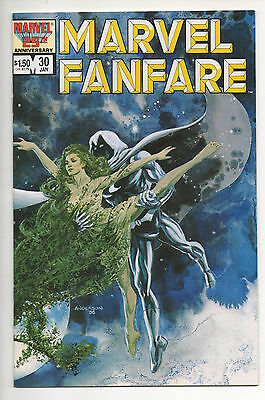 MARVEL FANFARE #30 (1987) Brent Anderson MOON KNIGHT Wrap-Around Cover NM