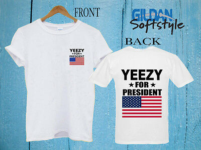 c2fb861a Hot new Kanye West Shirt Yeezy For President Custom Gildan Tshirt size S-2XL