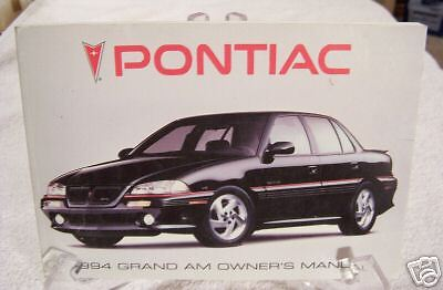 **NEW** 1994 Pontiac Grand Am Owners Manual 94