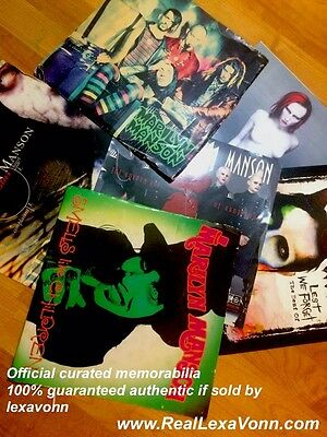 Marilyn Manson 12 x 12 record label issued album cover promo cards LOT of 6