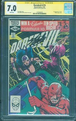 Daredevil 176 CGC SS 7.0 Stan Lee Sign 1st Stick Cover TV Key Frank Miller 1981