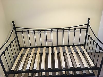 SOLD*Excellent* French Day Bed With Under Bed With New Mattress