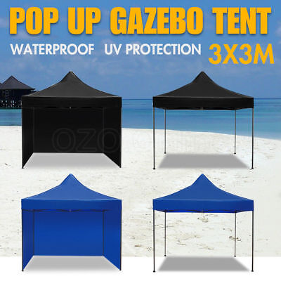 3x3M Outdoor Gazebo Pop Up Tent Folding Marquee Party Stall Event Canopy BBQ NEW