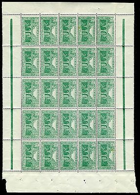 MONACO-1924  1f 10 Green Block of 25 Sg 99 Cat. Value £375 UNMOUNTED MINT
