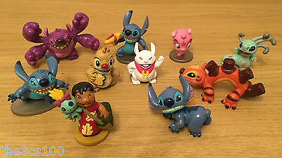 Big Collectible Disney Lilo & Stitch Figurines Set - 10 X Character Toys