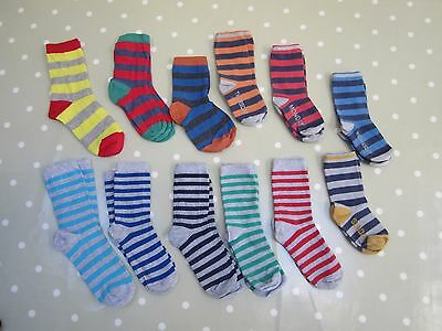 Bundle of 12 pairs of Boys Striped Socks Size 13-2