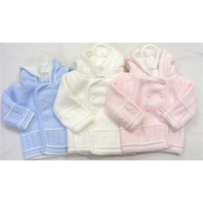 Baby Traditional Romany Spanish Style Knitted Pram Coat Cardigan  by Kinder