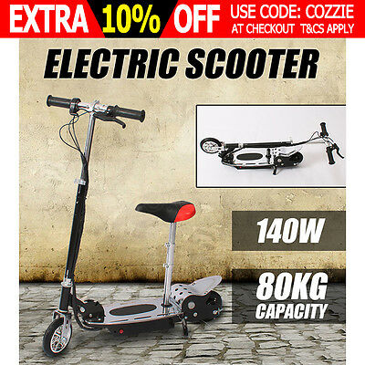 Portable Electric Scooter 140W Adjustable Foldable for Adults/Kids with Seat AU