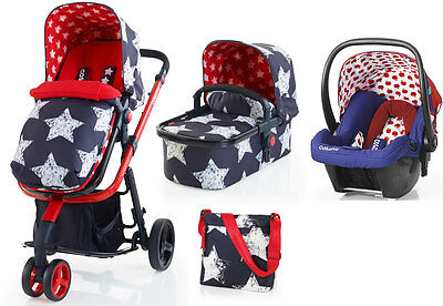 New Cosatto giggle 2 3 in 1 travel system in hipstar with apple seed car seat