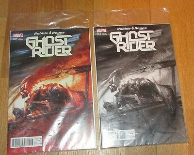 2 Marvel Ghost Rider 1 Gabriele Dell'Otto Color & B&W Variant Frankie's Comics