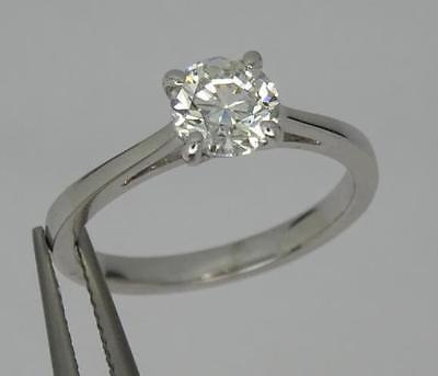 *stunning Gia Certified 18Ct White Gold 1Ct Round Cut Diamond Solitaire Ring*