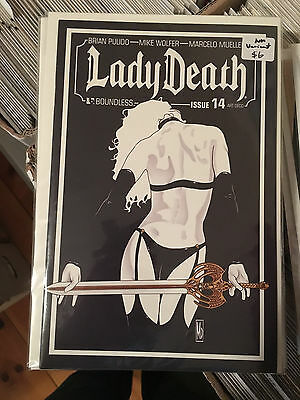 LADY DEATH #14 NM 1st Print ART DECO VARIANT Boundless Mike Wolfer Brian Pulido