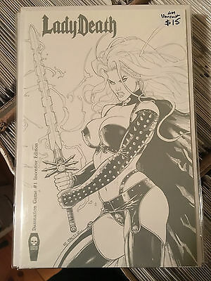 LADY DEATH DAMNATION GAME #1 NM 1st Print SKETCH INCENTIVE VARIANT Coffin Comics