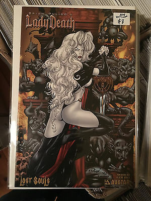 LADY DEATH LOST SOULS #0 NM 1st Print BOW BEFORE HER VARIANT Avatar Pulido