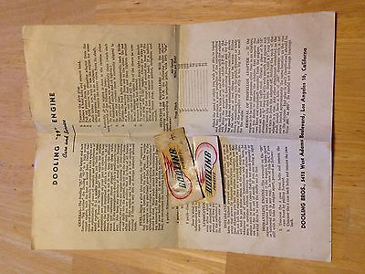 Dooling 29 care and service literature with two vintage stickers decals