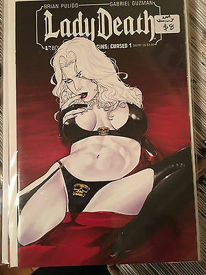 LADY DEATH ORIGINS CURSED #1 NM 1st Print SULTRY VARIANT Boundless Pulido