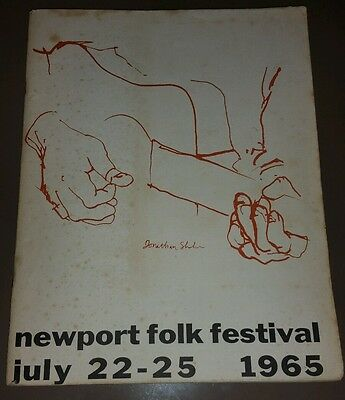 Original 1965 Newport Folk Festival Program