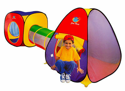 Kids Pop Up Play Tent 3 Piece Adventure House & Crawl Tube Tunnel Part A999-53