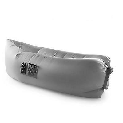 ChillSax Inflatable Air Lounger & Pool Float (Grey)
