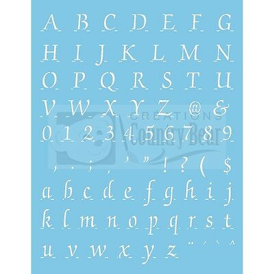 "Stencil - Complete Alphabet with numbers 5/8"" high - ST-153"