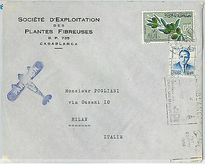 59861 -  MOROCCO - POSTAL HISTORY: COVER to ITALY  1966 -  OLIVES Gastronomy
