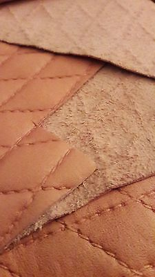 Real Baby Pink Leather Skin with embossed diamonds 102cm x 148cm