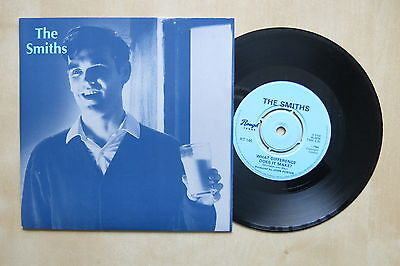 """THE SMITHS What Difference Does It Make? UK 7"""" in Morrissey picture sleeve"""