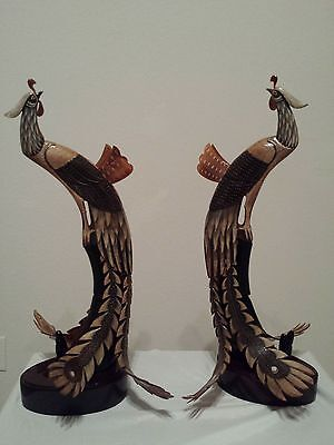 """22"""" Tall Peacock statue sculture"""