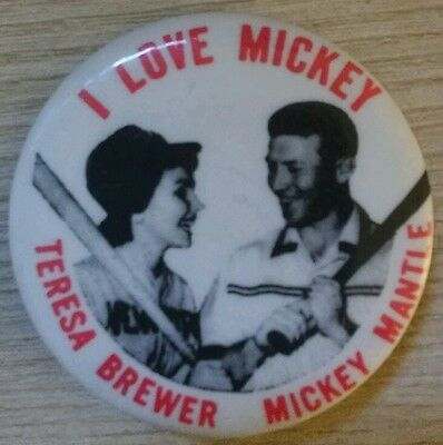 1980 Mickey Mantle/ Teresa Brewer Pin.