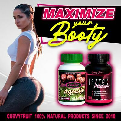 HUGE BOOTY GROWING with Black Curvy Pack from Curvy Fruit : Aguaje + Black Maca