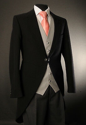 Mj-201 Men's Black Two Piece Formal Tails Suit Set For Ascot/wedding/tailcoat