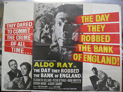 Day they Robbed the Bank of England 1960 British Quad Movie Poster
