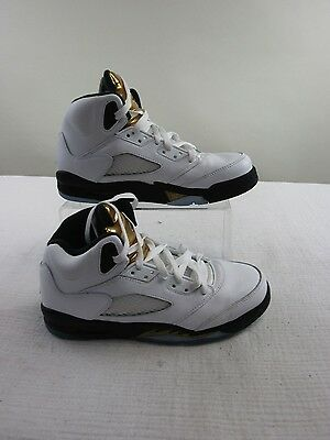 Pre-owned Air Jordan Retro 5 'Olympic' GS Youth Shoes Size 7Y