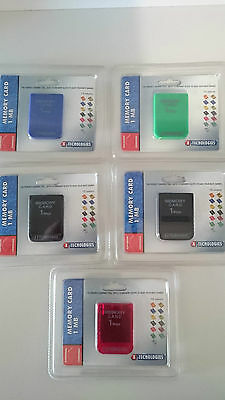 Memory Card 1 Mb Per Playstation 1 Ps1 Sigillate Nuove Colorate