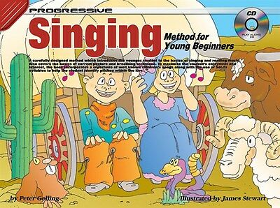 Progressive Singing Method For Young Beginners. Voice Sheet Music, Book, CD