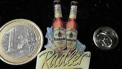 Bier Beer Pin Badge Krombacher Radler 2 Flaschen
