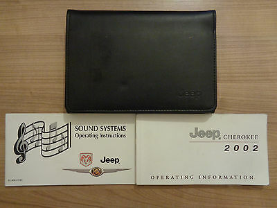 Jeep Cherokee Owners Handbook/Manual and Pack