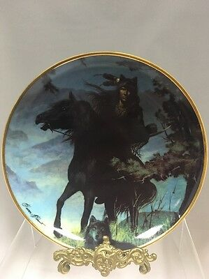Fine Porcelain Franklin Mint Native American Plate - SPIRIT OF THE NIGHT