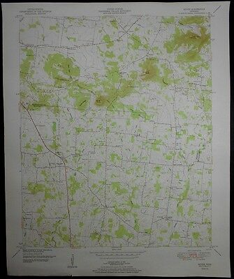 1951 Rover, Versailles, Bedford County & Rutherford County, Tennessee Topo Map