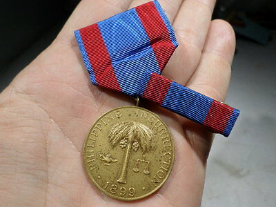 1899 US Army Philippine Insurrection Medal and Ribbon Bar