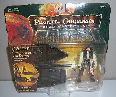 Disney Pirates Of The Caribbean Dead Man's Chest Ocean Drenched Jack Sparrow NEW