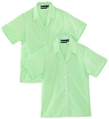 "Verde (Green) (TG. 26"" Chest) BlUE Max Banner Revere Twin Pack Short Sleeve Scho"