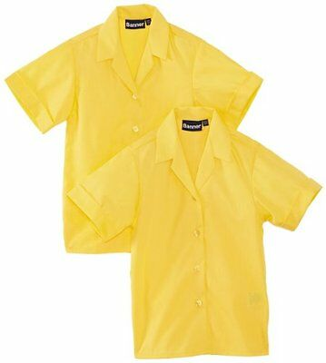 """Oro (Gold) (TG. 34"""" Chest) BlUE Max Banner Revere Twin Pack Short Sleeve School"""